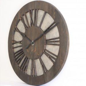 zegar rzymski tudor z prawej strony