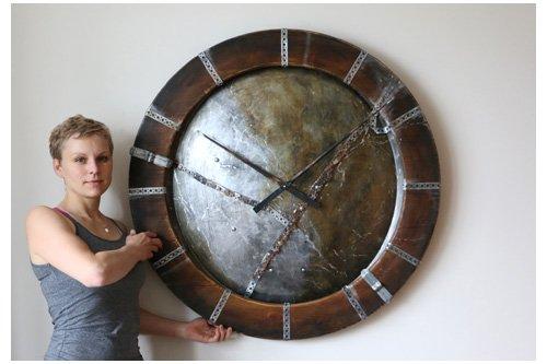 duże zegary ścienne industrialne