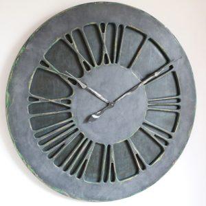 Denim Wall Clock with Roman Numerals