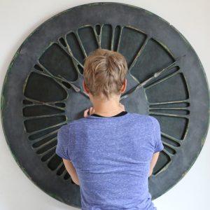 Denim Wall Clock in perspective