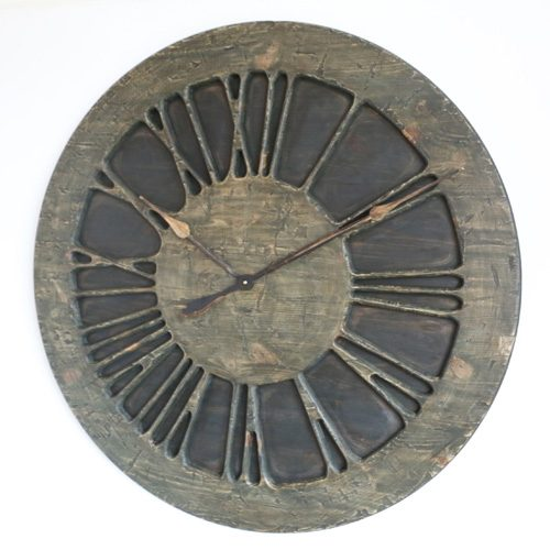 "40"" Handmade Extra Large Statement Wall Clock. Wood."