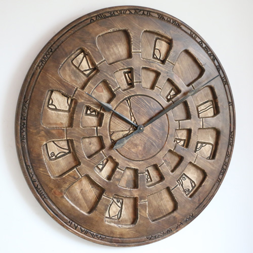 Large Designer Wall Clock from Wood