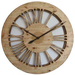 Duży zegar drewniany