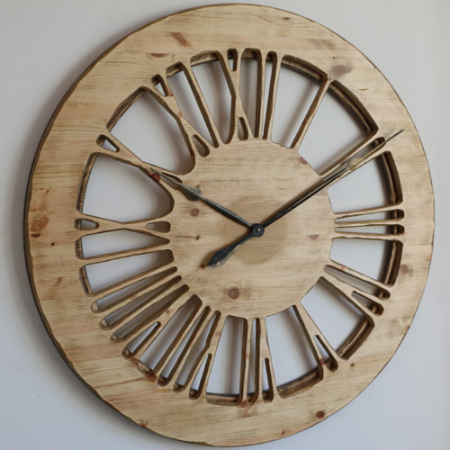 Skeleton Wooden Wall Clock