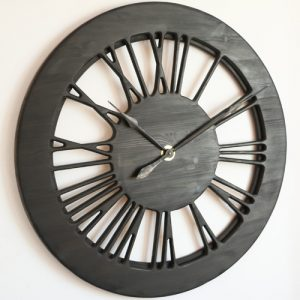 Hollow Roman Numeral Wall Clocks Handmade from single piece of Wood
