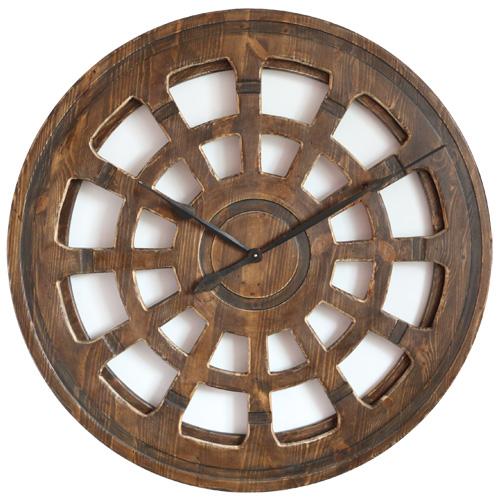 Handgefertigte Wanduhr aus Holz