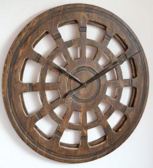 wooden skeleton clock