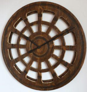 big wooden skeleton clock