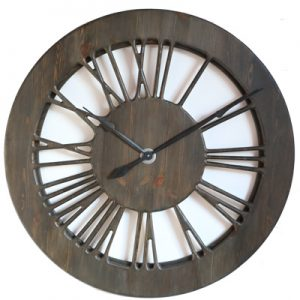 wooden tudor clock