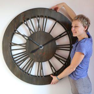 tudor clock with roman numerals