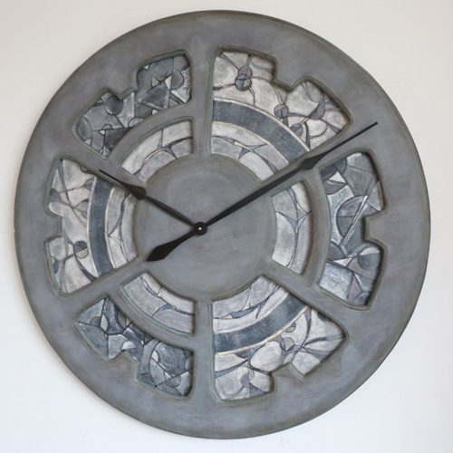 oversized mosaic wall clock