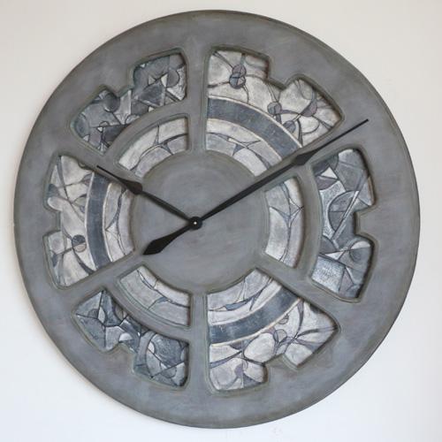 Zegar z drewna, ręcznie malowane unikalne dzieło sztuki