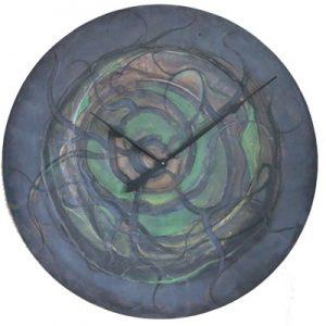 Abstrakcyjny, malowany ręcznie zegar ścienny