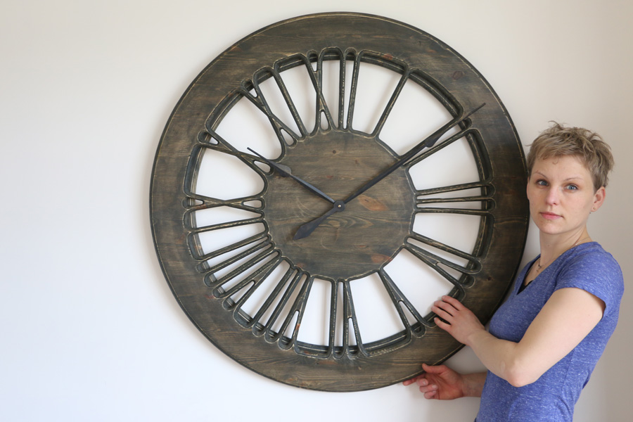 Rustic Skeleton Wall Clocks