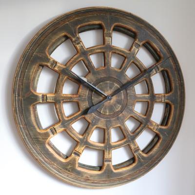 Künstlerische, große runde Wanduhr