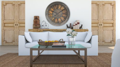 Beautiful Extra Large Decorative Wall Clock. Ideal for Rustic and Country Home Decor.