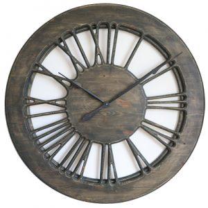 drewniany zegar szkieletowy