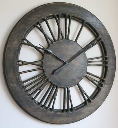 Very Large Rustic Skeleton Designer Wall Clock