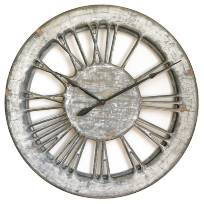White Shabby Chic Clock
