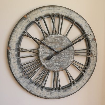 Shabby Chic Clock 100 cm diameter