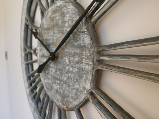 White Shabby Chic Clock handmade