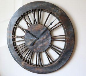 Duży Zegar Nowoczesny z Cyframi Rzymskimi