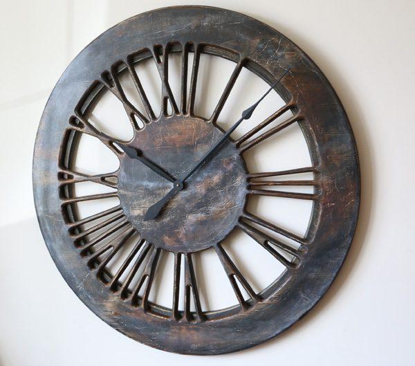 "Contemporary Extra Large 40"" Wooden Wall Clock Handmade."