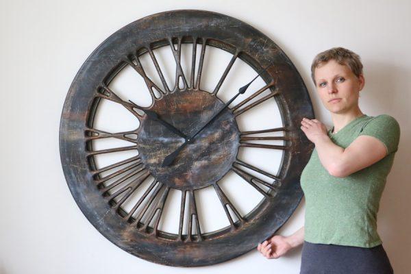 Handmade Large Contemporary Clock