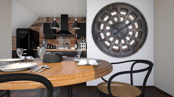 Extra Large Handmade 48 Inch Dark Centrepiece Wall Clock Interiors