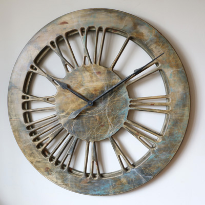 "40"" Massive Contemporary Handmade Skeleton Wall Clock"