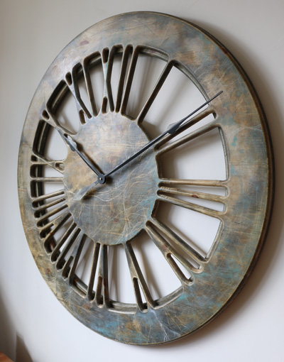 Very Large Wooden Contemporary Clock