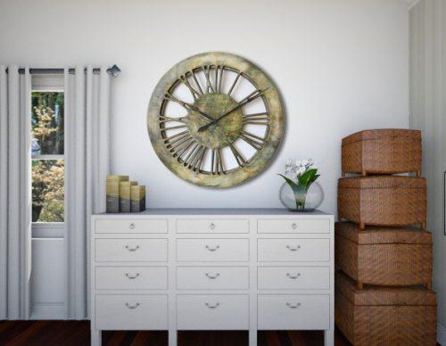Nowoczesny Szkieletowy zegar na ścianę