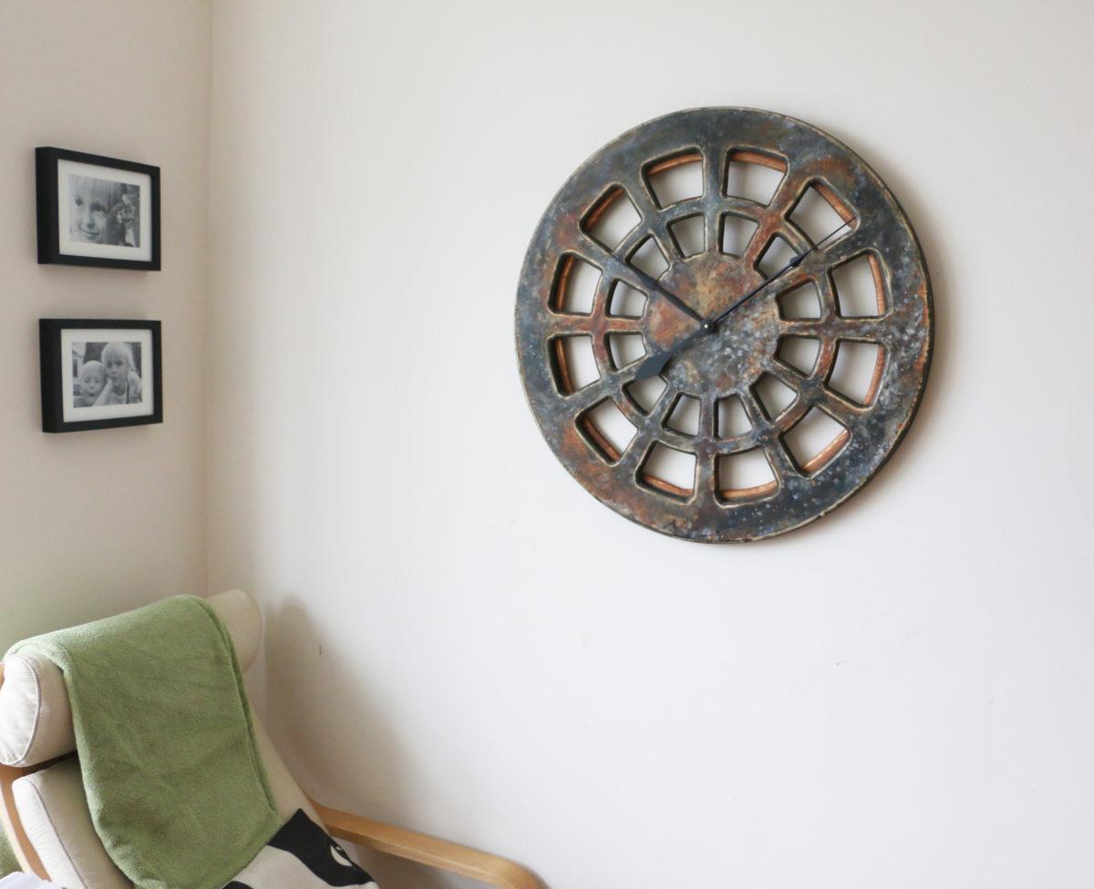 75 cm gro e dekorative wanduhr ein werk der modernen kunst for Wanduhr 100 cm durchmesser