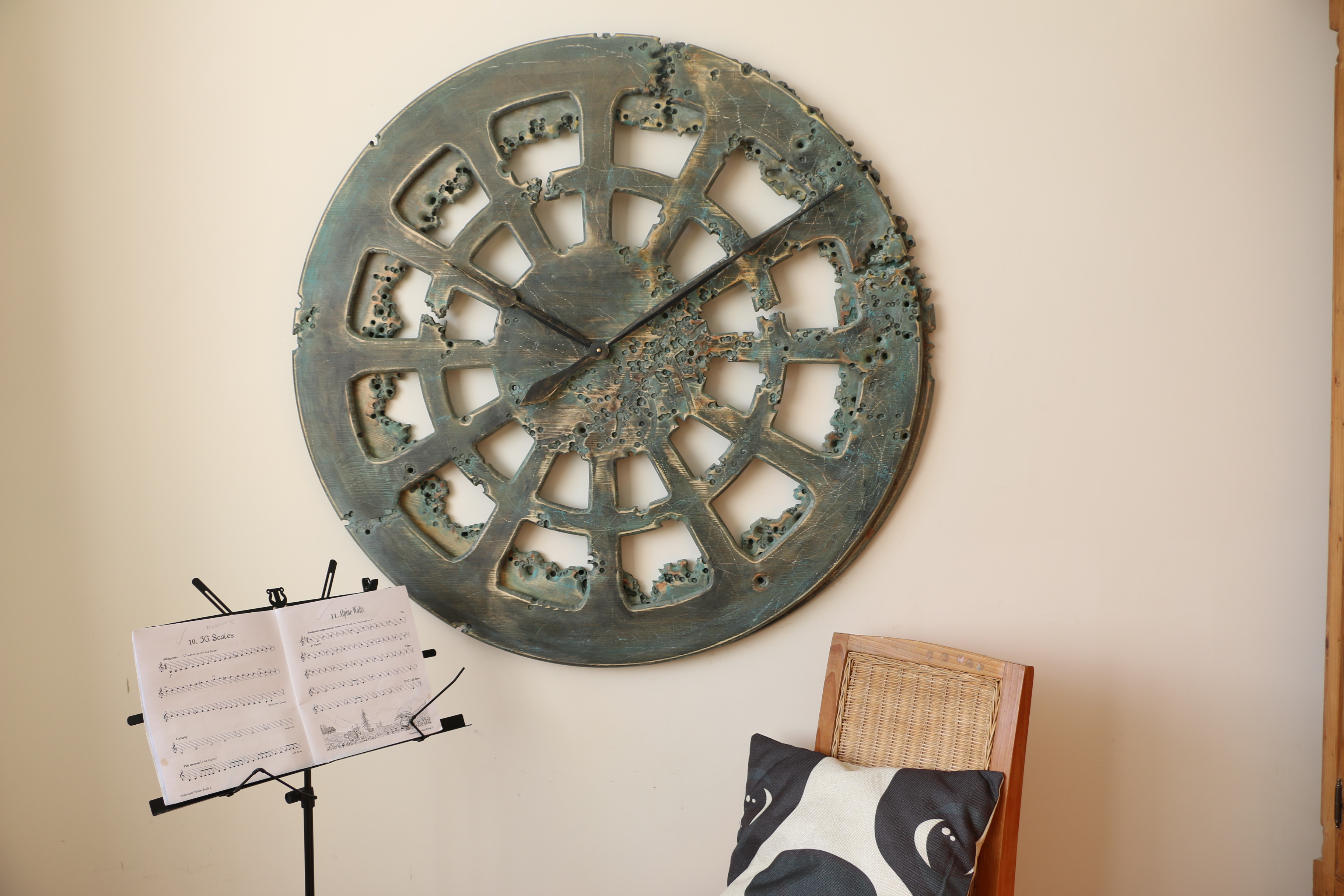 Extra Large Beautiful And Unique Handmade Clock