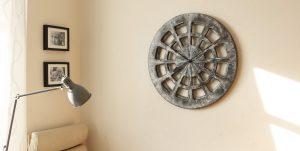 Dekoracyjny Zegar do Kuchni Ręcznie Malowany