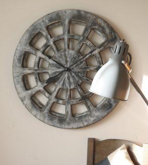 Szary Dekoracyjny Zegar do Kuchni