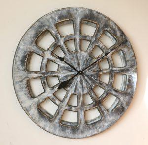 Dekoracyjny Zegar do Kuchni w kolorze szarym