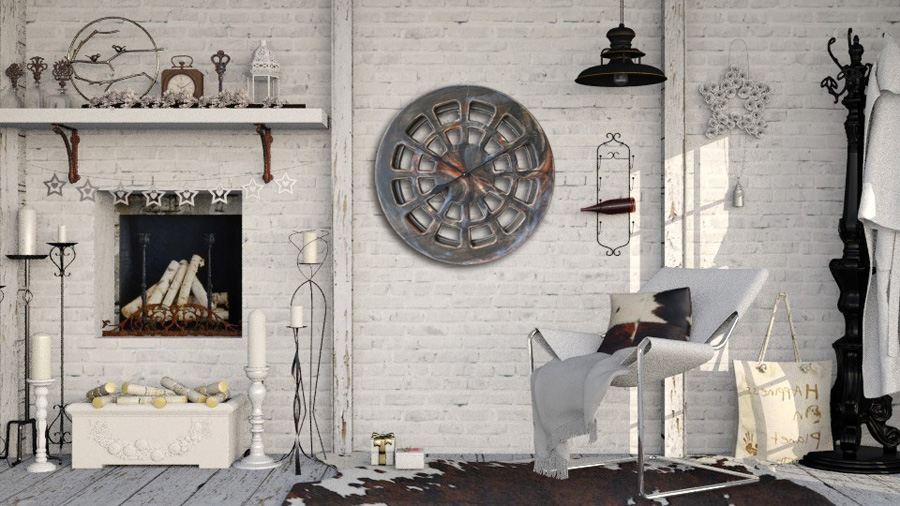 Very Large Decorative Clock For Lounge Kitchen Or Living