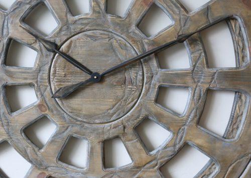 Massive Wall Clock Face Close Up