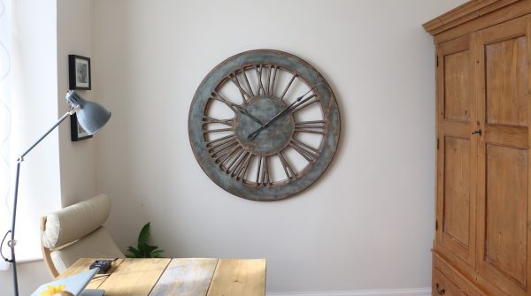 Extra Large Wall Clock made of wood