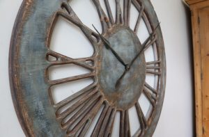 Extra Large Wall Clock with Roman Numerals