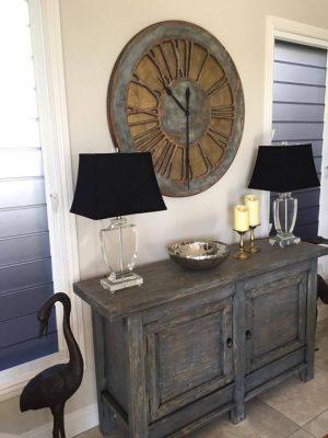 Wielki Zegar Drewniany o Rustykalnym wyglądzie ręcznie robiony