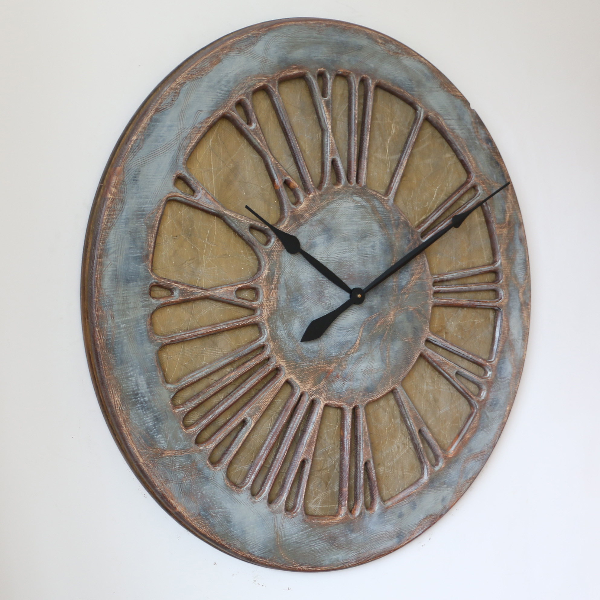 Large Wall Clock For Living Room Handmade Work Of Art