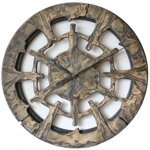 100 Cm Grosse Einzigartige Skelett Wanduhr Aus Holz
