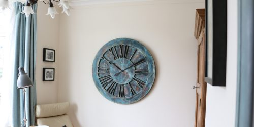 Artistic roman numeral bedroom clock