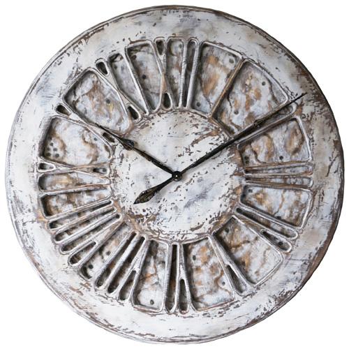 Biały Unikalny Zegar Shabby Chic