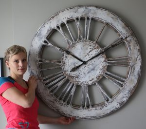 Large Skeleton Wall Clock