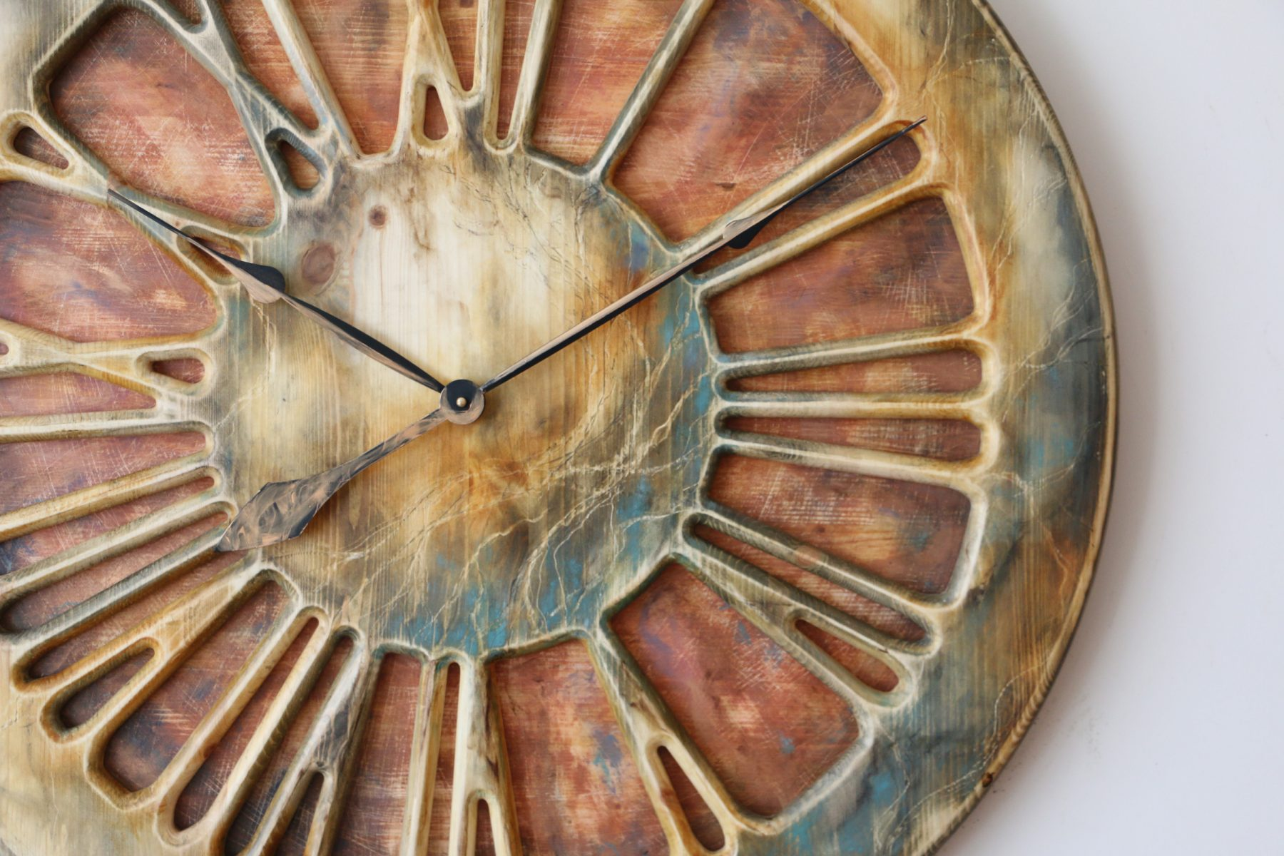 large wall clock for kitchen with roman numerals