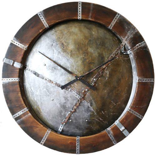 duży zegar industrialny