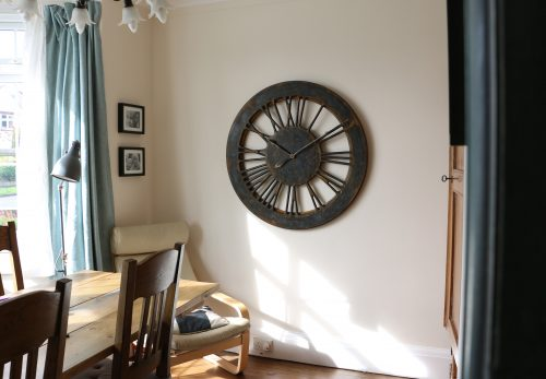 extra large skeleton wall clock with roman numerals